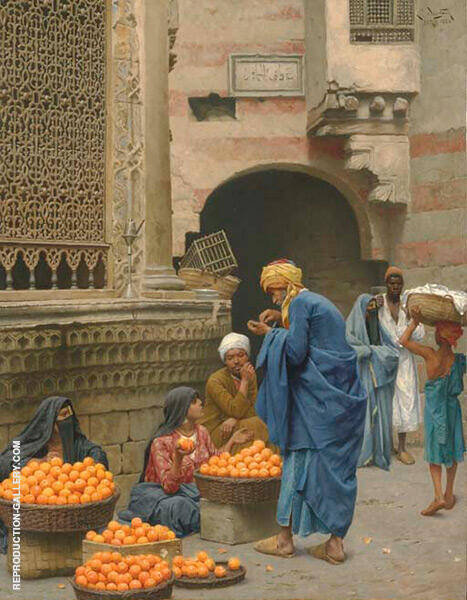 The Orange Seller Painting By Ludwig Deutsch - Reproduction Gallery