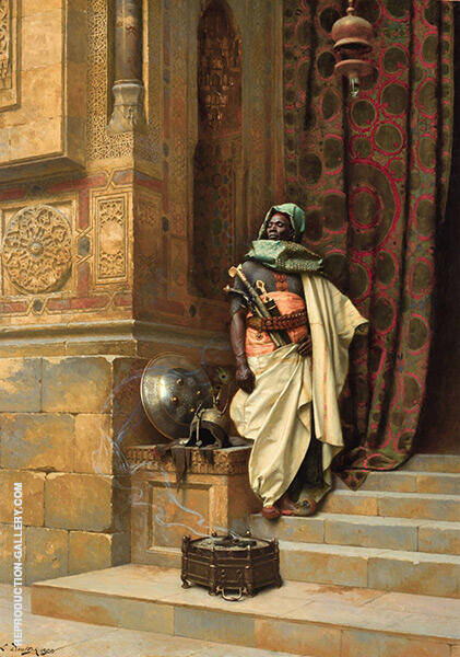 The Palace Guard Painting By Ludwig Deutsch - Reproduction Gallery