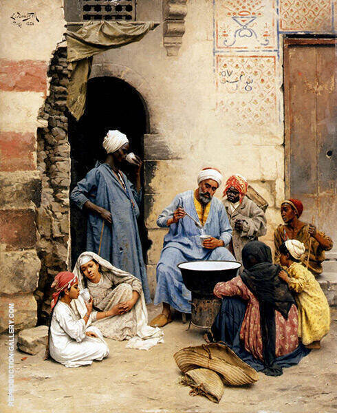 The Sahleb Vendor Cairo 1886 Painting By Ludwig Deutsch