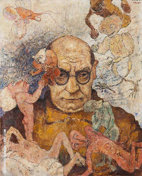 Self Portrait By Frits Van Den Berghe