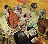 Self Portrait with Skull 1938 By Frits Van Den Berghe
