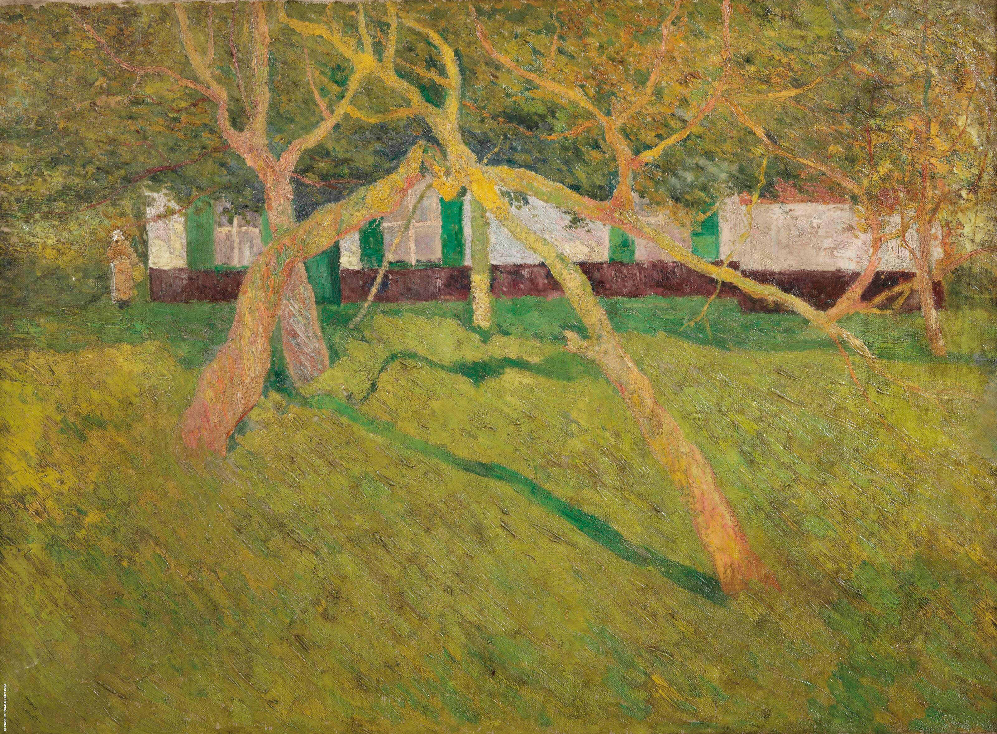 The Orchard 1910 By Frits Van Den Berghe