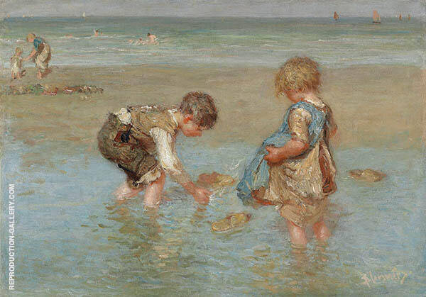 A Day at The Beach By Bernardus Johannes Blommers