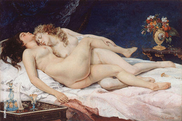 Le Sommeil akaThe Sleepers 1886 By Gustave Courbet