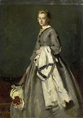 A Young Woman By August Allebe