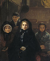 Early to Church 1861 By August Allebe