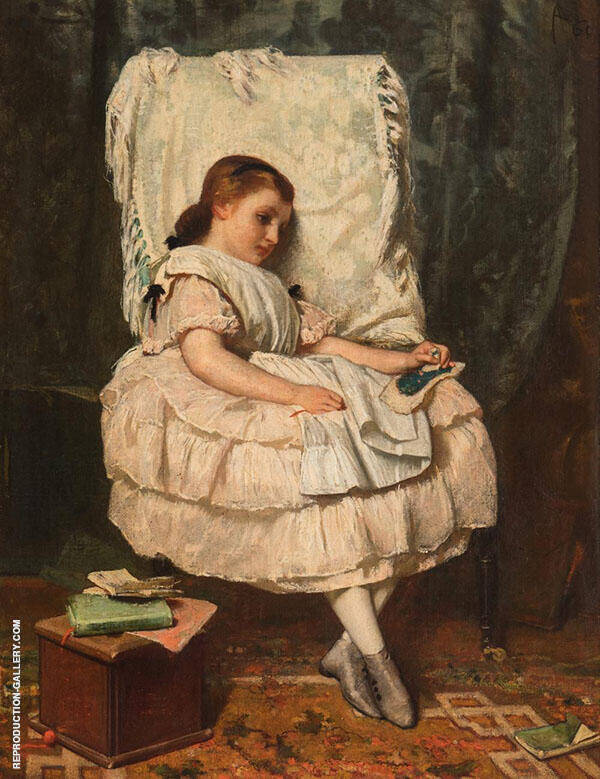 Holiday But No Desire to Read Painting By August Allebe