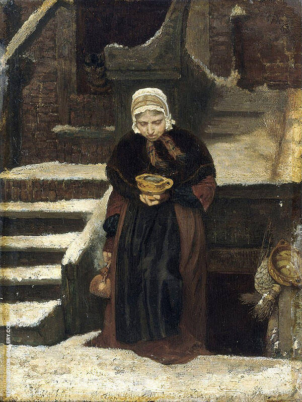 Later Life 1863 Painting By August Allebe - Reproduction Gallery