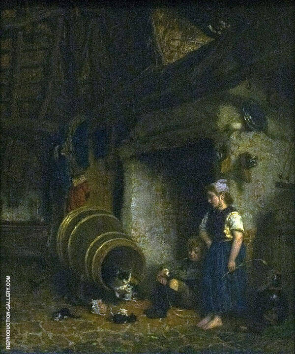 Maternity Visit 1865 By August Allebe