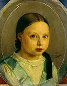 Portrait of Annie Allebe By August Allebe