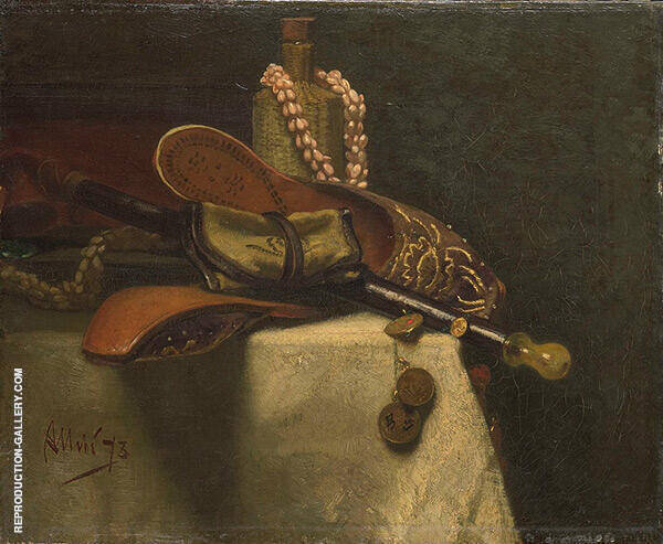 Still Life with Oriental Slippers 1873 By August Allebe
