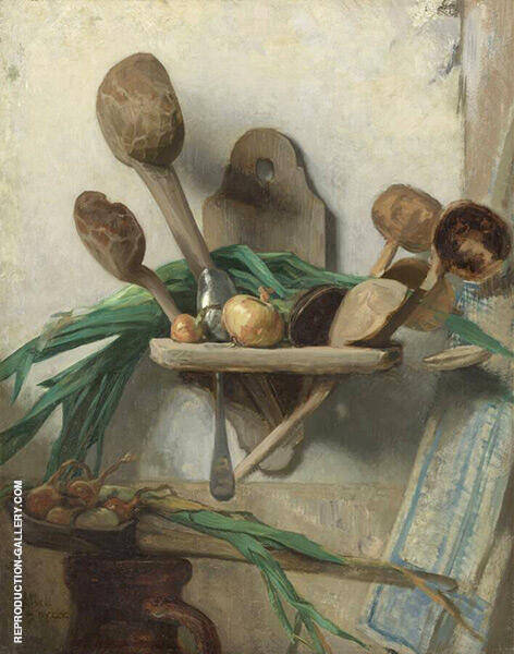 Still Life with Wooden Spoon 1900 Painting By August Allebe