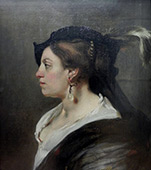 Portrait of a Lady By Carel Fabritius