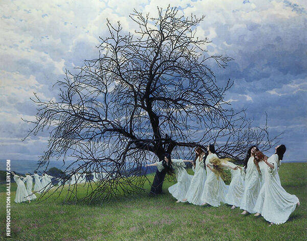 A Song of Spring 1913 Painting By Maximillian Lenz - Reproduction Gallery