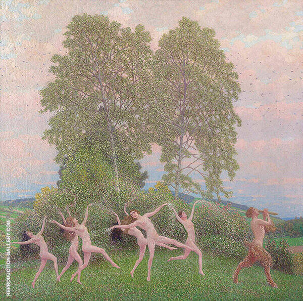 The Dance of The Fawn Painting By Maximillian Lenz - Reproduction Gallery