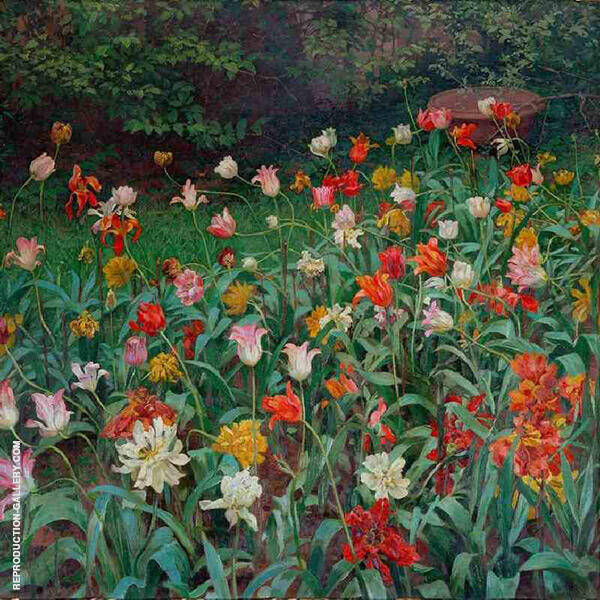 Tulips Painting By Maximillian Lenz - Reproduction Gallery