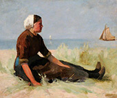 A Fisher Girl 1887 By Hendrik Willem Mesdag