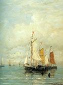 A Moored Fishing Fleet By Hendrik Willem Mesdag