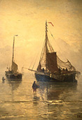 Arrival of The Fish 1875 By Hendrik Willem Mesdag