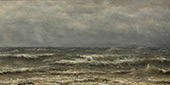 Breakers on The North Sea By Hendrik Willem Mesdag