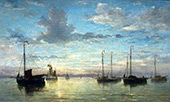 Evening at The Sea By Hendrik Willem Mesdag