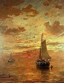 Evening Beach By Hendrik Willem Mesdag
