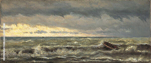 Lifeboats in The Surf By Hendrik Willem Mesdag