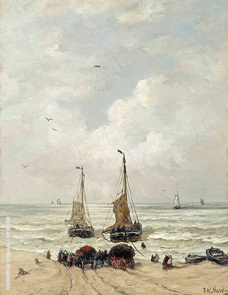 Loading The Nets By Hendrik Willem Mesdag
