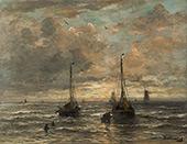 Return of The Fishing Fleet Scheveningen By Hendrik Willem Mesdag