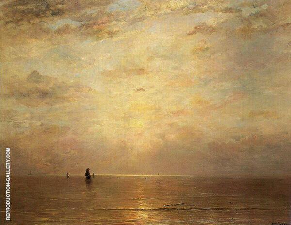 Setting Sun By Hendrik Willem Mesdag