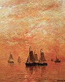 Sunset Glow 1922 By Hendrik Willem Mesdag