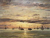 Sunset at Scheveningen 1894 By Hendrik Willem Mesdag
