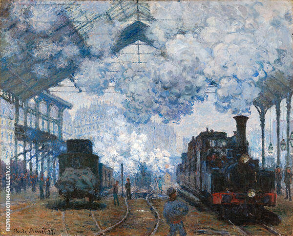 The Gare Saint-Lazare Arrival of a Train 1877 By Claude Monet