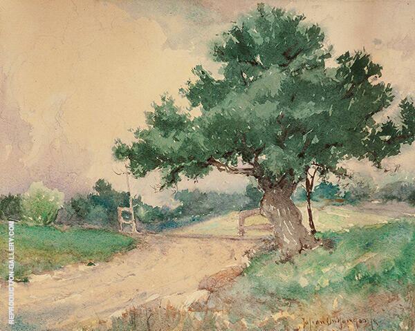 Gate by The Oak Tree By Julian Onderdonk