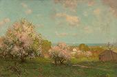 Landscape with Apple Blossom Trees By Julian Onderdonk