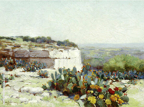 Prickly Pear in Blossom By Julian Onderdonk