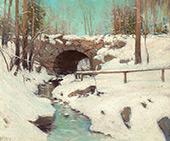 Stone Bridge in Winter Central Park By Julian Onderdonk