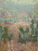 Texas Cactus in Bloom 1921 By Julian Onderdonk