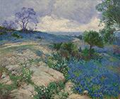 Texas Landscape with Bluebonnets By Julian Onderdonk