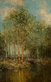 The Woodland Glade Maine 1909 By Julian Onderdonk