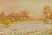 Untitled Bluebonnet Landscape By Julian Onderdonk