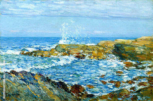 Isle of Shoals 1906 by Childe Hassam | Oil Painting Reproduction Replica On Canvas - Reproduction Gallery