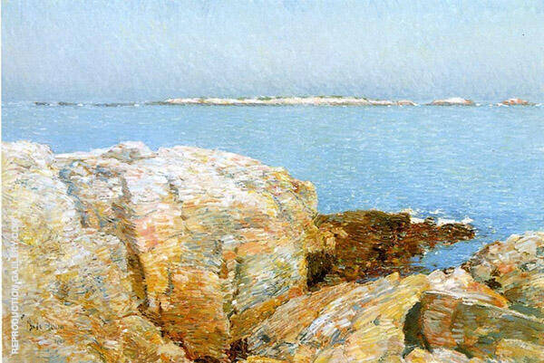 Duck Island,Isle of Shoals 1906 by Childe Hassam | Oil Painting Reproduction Replica On Canvas - Reproduction Gallery