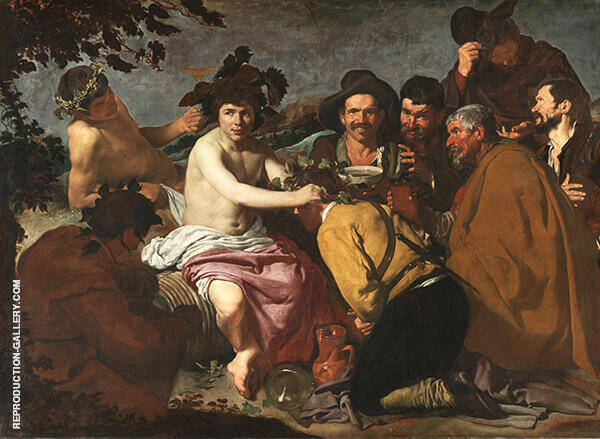 The Feast of Bacchus by Diego Velazquez   Oil Painting Reproduction Replica On Canvas - Reproduction Gallery