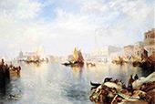 Venetian Grand Canalg By Thomas Moran