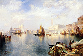 Venice The Grand Canal with The Doges Palace By Thomas Moran