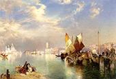 Venice The Little Bridge By Thomas Moran