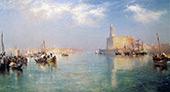 Vera Cruz Harbor By Thomas Moran