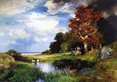 View of East Hampton By Thomas Moran