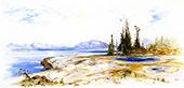 Yellowstone Lake 2 By Thomas Moran